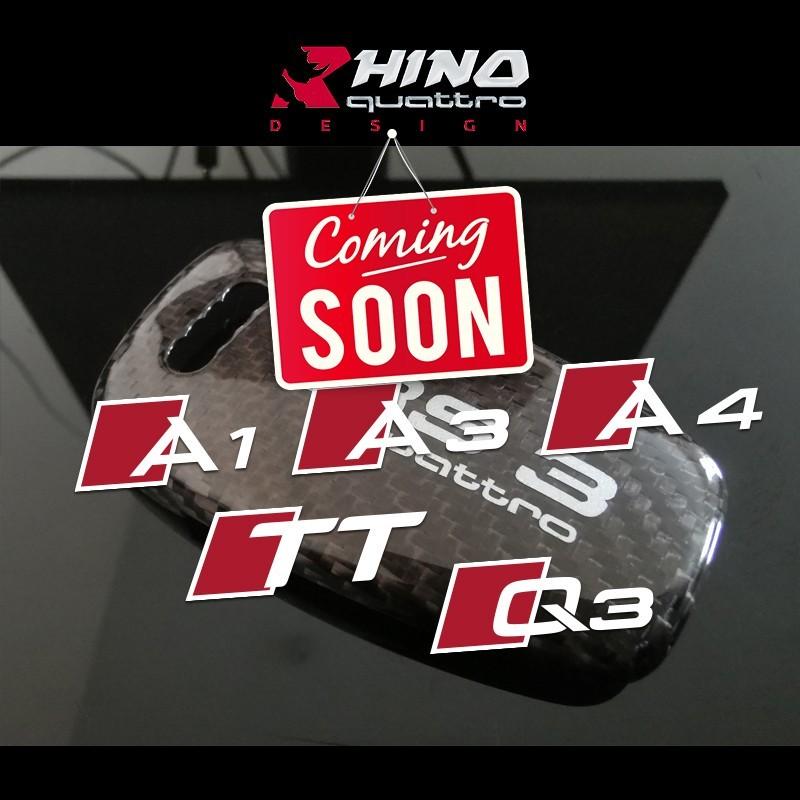 Audi-A1-A3-A4-A6-Q3-Q5-Q7-TT-ALLROAD-Logo-Sport-Car-Key-Shell-Glass-Fiber
