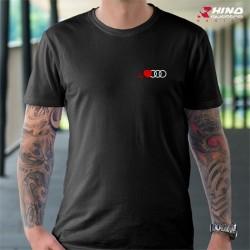 T-shirt audi cardio anneaux noir