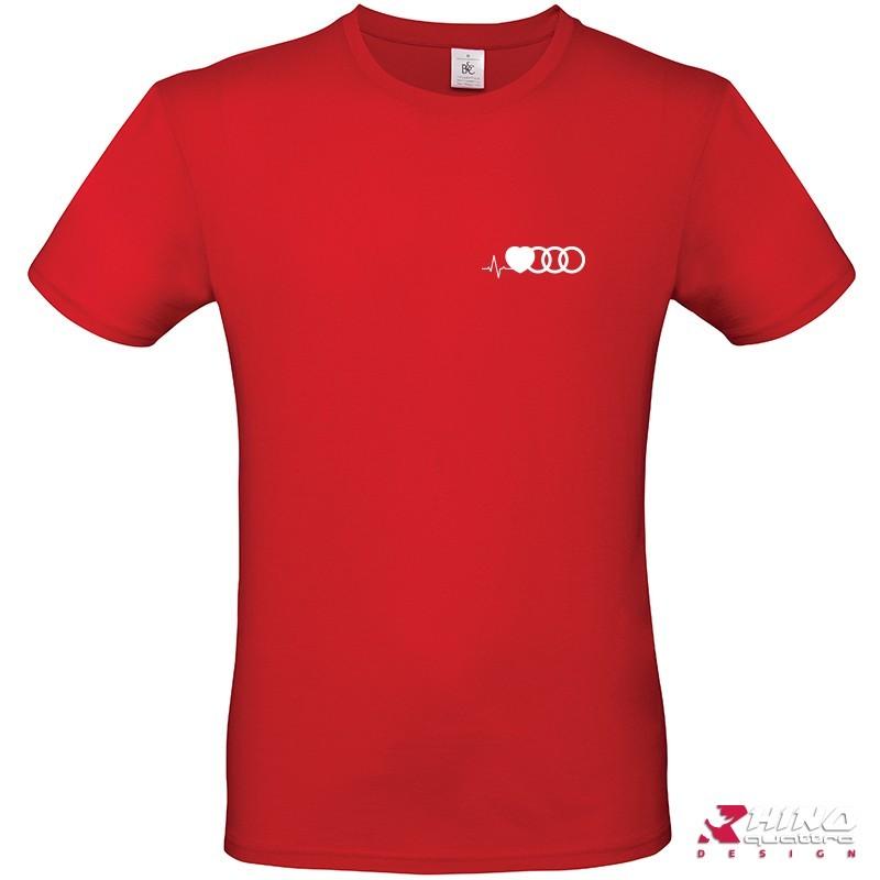 T-shirt audi cardio anneaux red